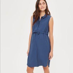 Topshop (Maternity) Navy Drawstring Dress